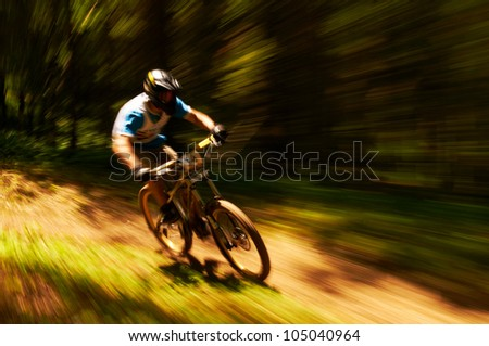 ALMATY, KAZAKSTAN - MAY 27: V.Sak (N14) in action at Freestyle Mountain Bike Session in Almaty, Kazakstan MAY 27, 2012. - stock photo