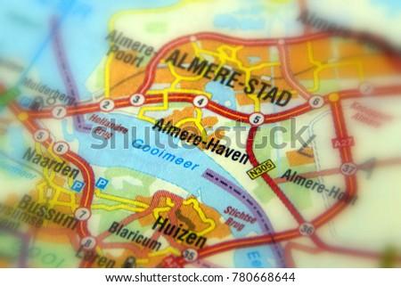 Almere Haven Almere Gooimeer Planned City Stock Photo 780668644