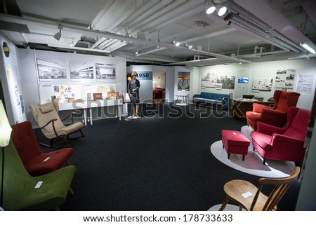 ALMHULT,  SWEDEN -  JANUARY 07:  Inside IKEA museum, January 07, 2014 in Almhult, Sweden