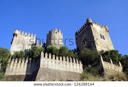 Almodovar castle, Cordoba, Andalusia, Spain - stock photo