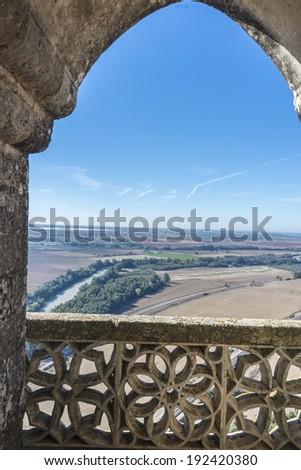Almodovar del Rio Castle, Cordoba, Andalusia, Spain. - stock photo
