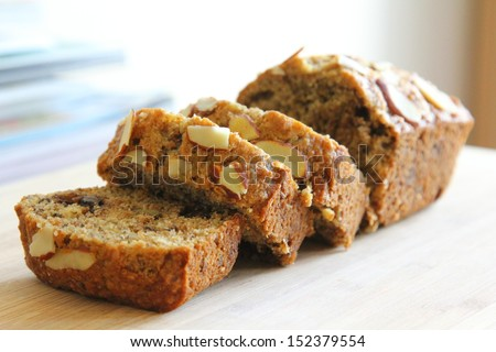 Almond banana bread - stock photo