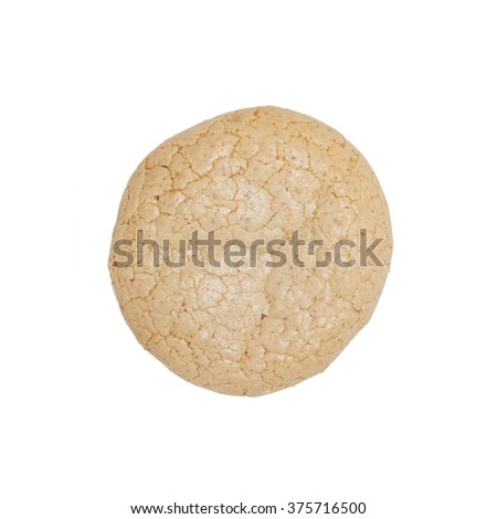 Almond cake on a white background