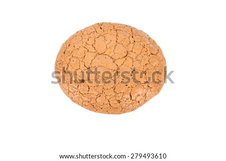 Almond cookies isolated on a white background.