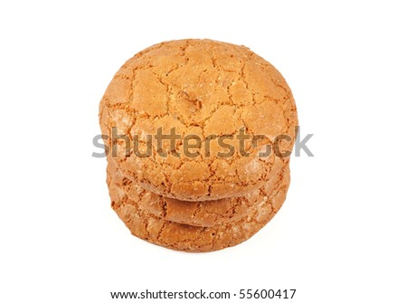 Almond cookies isolated on white