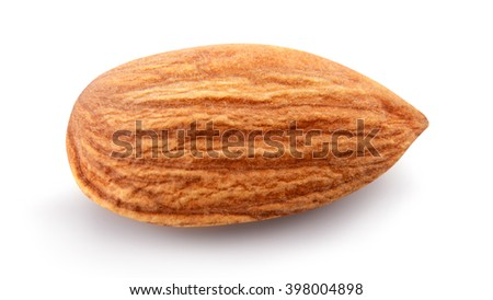 almond isolated on a white background - stock photo
