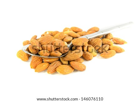 Almond isolated white background