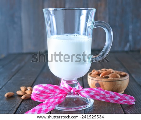 almond milk - stock photo