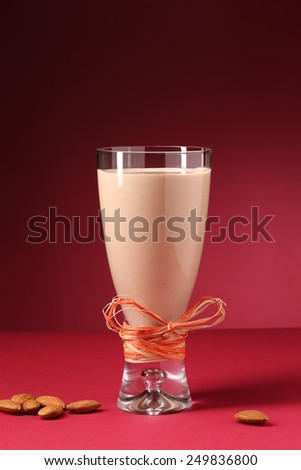 Almond milkshake - stock photo