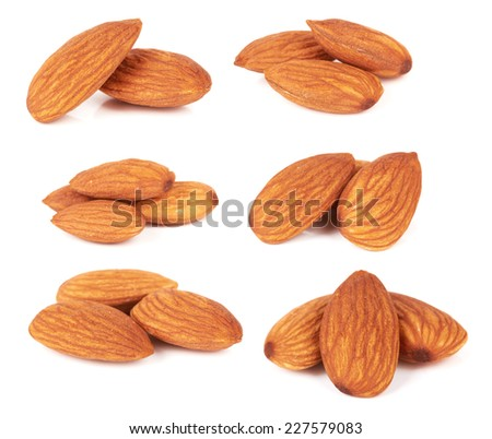 almond nut isolated on a white background