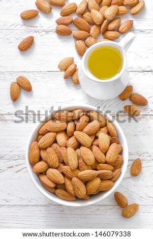 Almond oil - stock photo