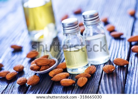 Almond oil - stock photo