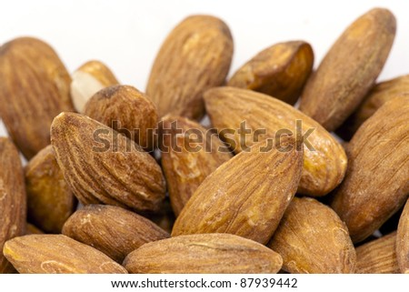 almond with isolate background - stock photo