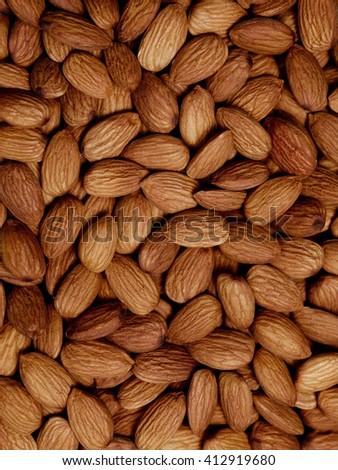 almonds closeup. For vegetarians - stock photo