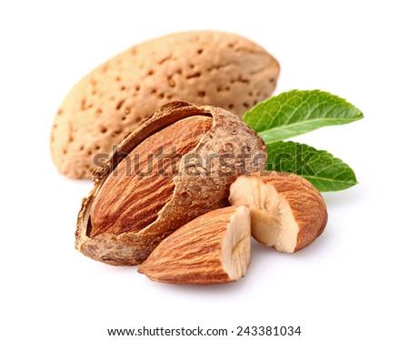 Almonds kernel - stock photo