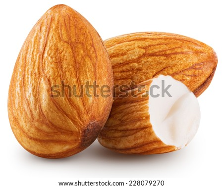 almonds nuts isolated Clipping Path