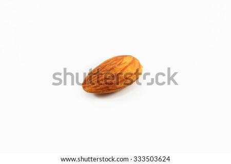 almonds on white background. - stock photo