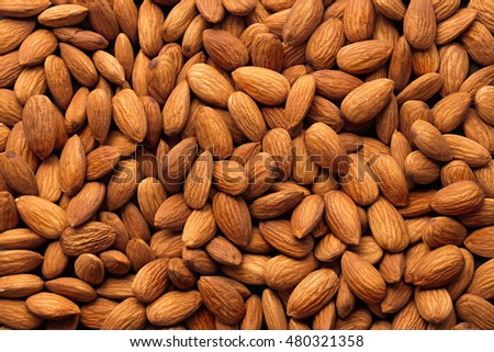 Almonds pile background