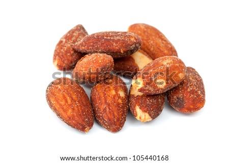 Almonds, salt and baking - stock photo