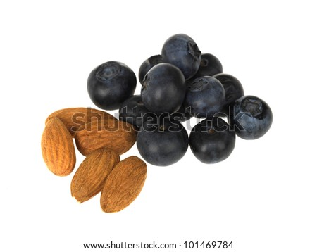 Almonds with Blueberries - stock photo