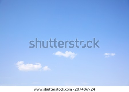 Almost cloudless sky, may be used as background - stock photo