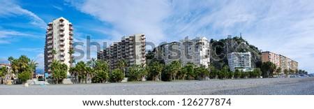 Almunecar Panorama View - stock photo