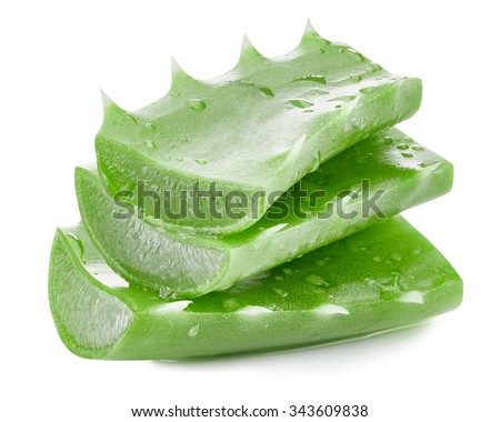 aloe vera leaves isolated on white Clipping Path
