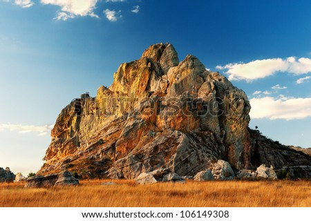 Alone Rock in Madagascar - stock photo