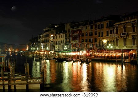 Along Rialto by Night