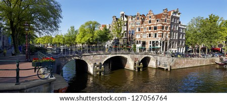 Along the canals, Amsterdam, Holland - stock photo