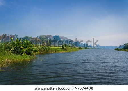 Along the Pangalanes channel, eastern Madagascar - stock photo