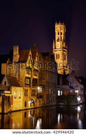 Along the river in Bruges