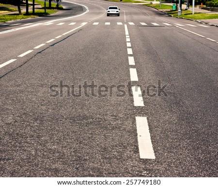 Along the road far away - stock photo