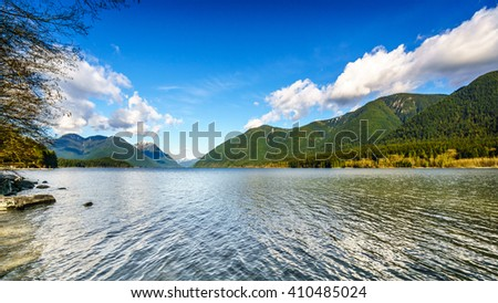Alouette Lake in Golden Ears Provincial Park in the Coastal Mountain Range in British Columbia, Canada - stock photo