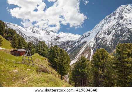 Alp in South Tyrol, Italy - stock photo
