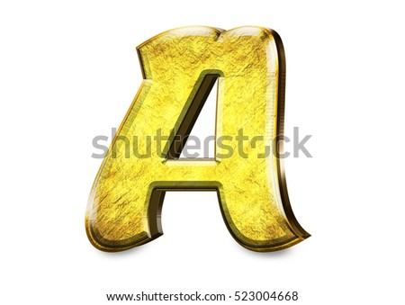 alpabet letter gold texture design luxury on isolate white background