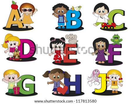 alphabet - stock photo