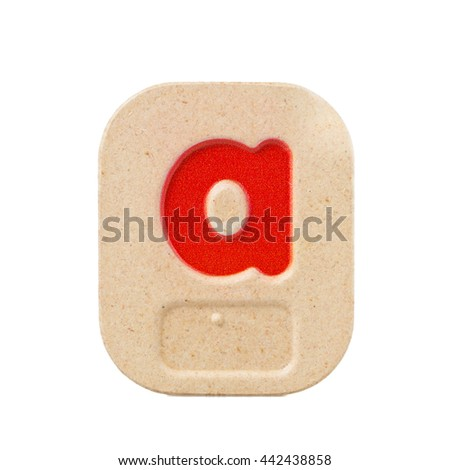alphabet a on white background  with Braille. - stock photo