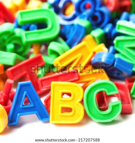 alphabet ABC background - stock photo