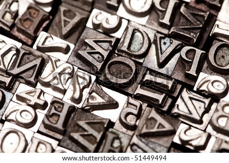 Alphabet and typo - stock photo