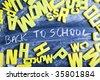 Alphabet - back to school - stock photo