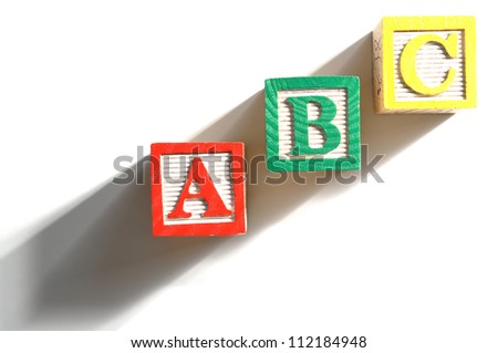 Alphabet Blocks spelling the words abc - stock photo