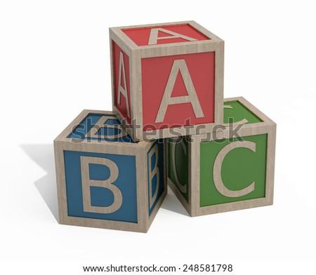 alphabet cubes - stock photo