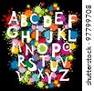 Alphabet design in a colorful style. illustration - stock vector