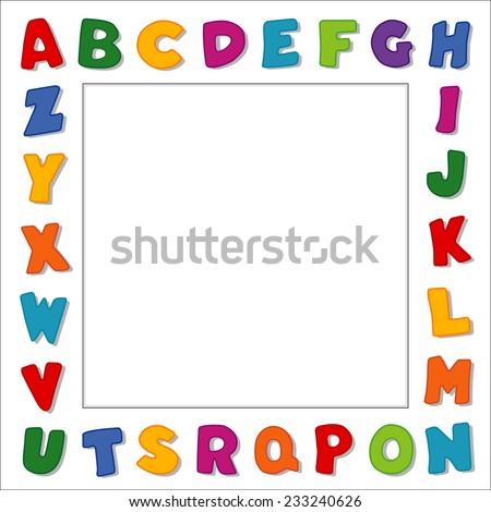Alphabet Frame Original Design Multi Color Stock Illustration ...