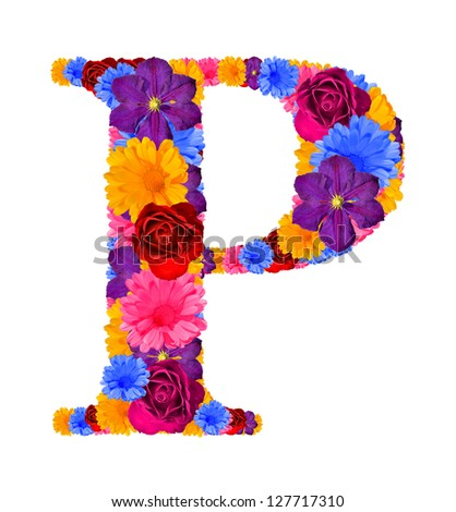 P Alphabet Letter Letter P - stock photo