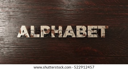 Alphabet - grungy wooden headline on Maple  - 3D rendered royalty free stock image. This image can be used for an online website banner ad or a print postcard.