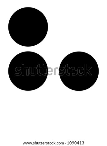 alphabet letter h in braille - stock photo