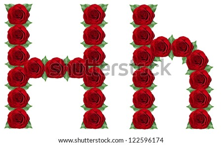 H Letter In Rose Alphabet Letter R Made...