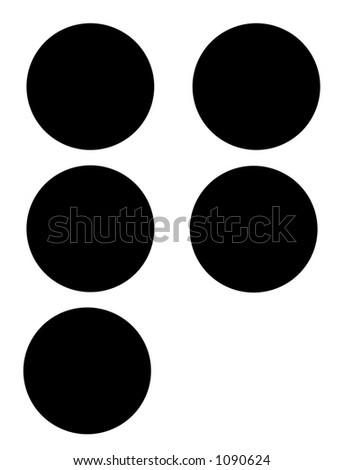 alphabet letter q in braille - stock photo